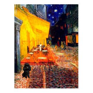 Poodle black 1 - Terrace Cafe Post Card