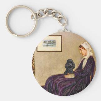 Poodle (black 1) - Whistler's Mother Keychain