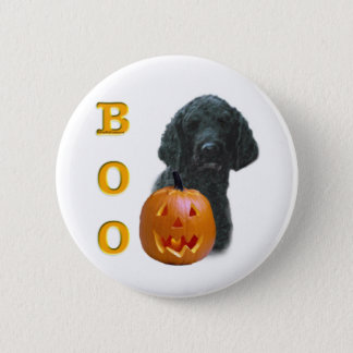 Poodle (Black Coated) Boo Pinback Button