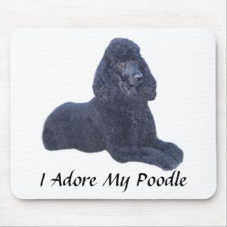 Poodle Black Mousepad I Adore