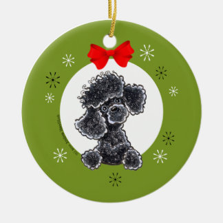 Poodle Black Toy Christmas Personalized Ornament