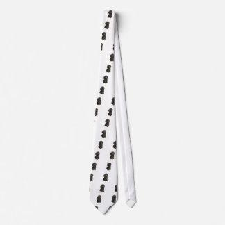 Poodle - black toy pup neck tie