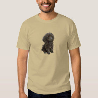 Poodle - black toy pup tee shirt
