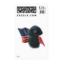 Poodle (blk) Flag Postage