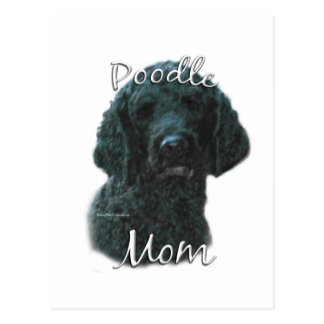 Poodle (blk) Mom 2 Postcard