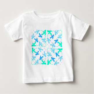 Poodle blue point pattern baby T-Shirt