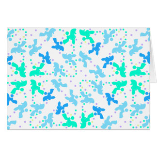 Poodle blue point pattern card