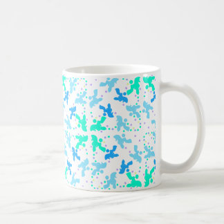 Poodle blue point pattern classic white coffee mug