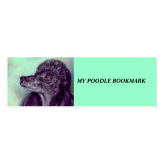Poodle Bookmark Double-Sided Mini Business Cards (Pack Of 20)