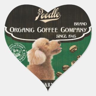 Poodle Brand – Organic Coffee Company Heart Sticker