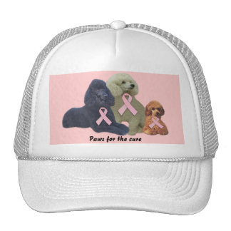Poodle  Breast Cancer Hat