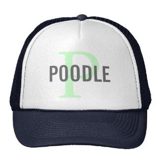 Poodle Breed Monogram Design Trucker Hat