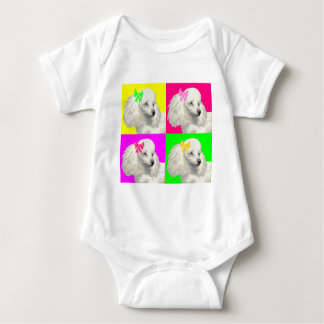 Poodle Bright Collage1 Baby Bodysuit
