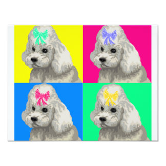Poodle Bright Collage 2 Card