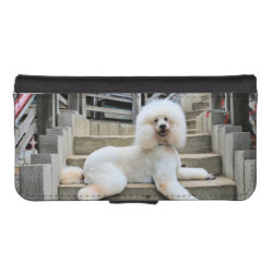 iPhone 5/5s Wallet Case with Poodle Phone Cases design