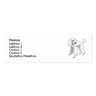 Poodle  business card template