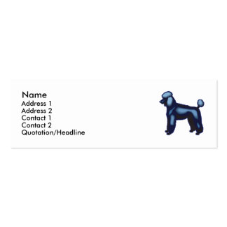 Poodle Business Card