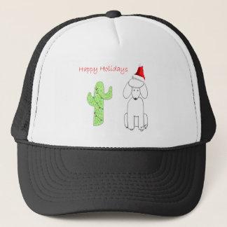 Poodle Cactus Christmas Trucker Hat