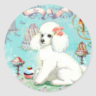 Poodle Cakes Round Sticker