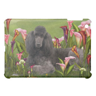 Poodle Calla Lily Garden Green  Cover For The iPad Mini