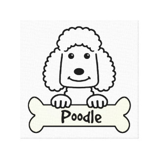 Poodle Cartoon Canvas Print