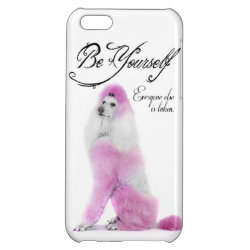 Case Savvy Matte Finish iPhone 5C Case with Poodle Phone Cases design