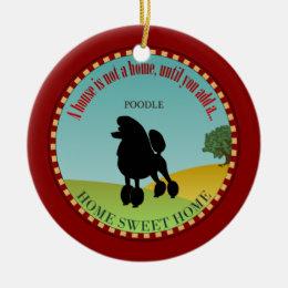 Poodle Ceramic Ornament
