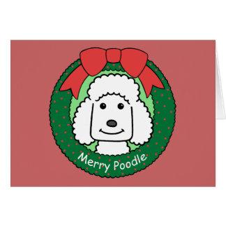 Poodle Christmas Card