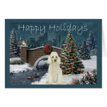 Poodle Christmas Card Evening