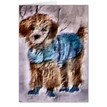 Poodle Christmas Gifts Card