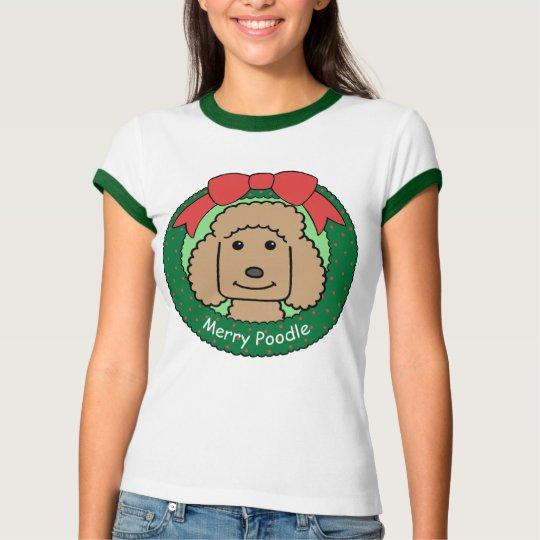 Poodle Christmas T-Shirt