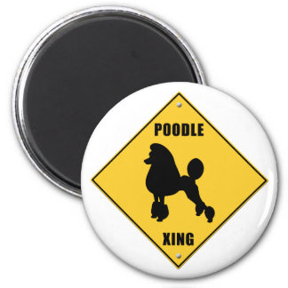 Poodle Crossing (XING) Sign Magnet