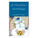 Poodle Cupcake Tea Party Business Card