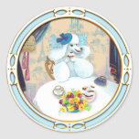 Poodle Cupcake Tea Party Classic Round Sticker