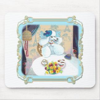Poodle Cupcake Tea Party Mouse Pad