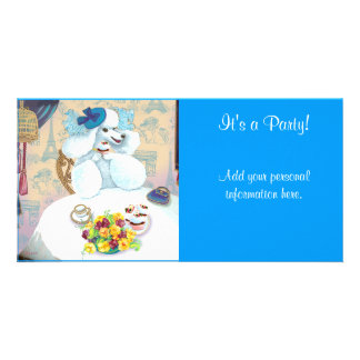Poodle & Cupcakes Tea Party Invitations. Photo Card Template