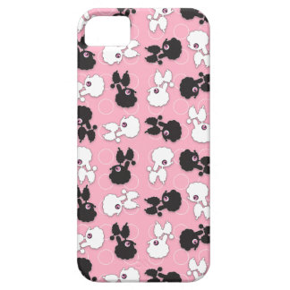 Poodle Cuties on Pink - Customize iPhone SE/5/5s Case