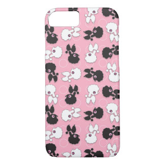 Poodle Cuties on Pink - iPhone 8/7 Case