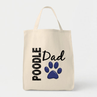 Poodle Dad 2 Grocery Tote Bag