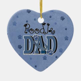 Poodle DAD Ceramic Ornament