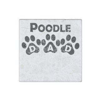 Poodle Dad Stone Magnet