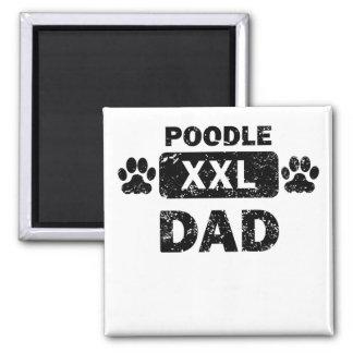 Poodle Dad 2 Inch Square Magnet