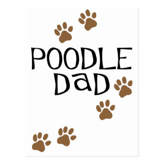 Poodle Dad Postcard