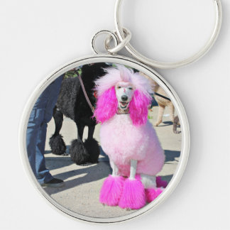 Poodle Day 2016 - Barnes - Pink Standard Poodle Keychain