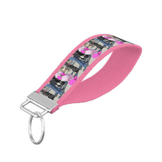 Poodle Day 2016 - Barnes - Pink Standard Poodle Wrist Keychain