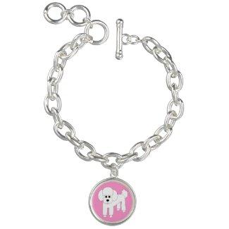 Poodle Dog Art Charm Bracelet