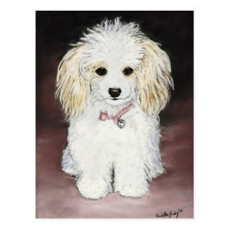 Poodle Dog Art Postcard