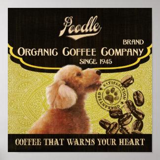 Poodle Dog Art Poster- Organic Coffee Company