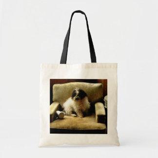 POODLE  DOG CANVAS BAGS