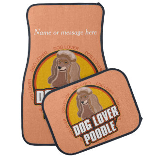 Poodle Dog Breed Lover Custom Name Car Mat